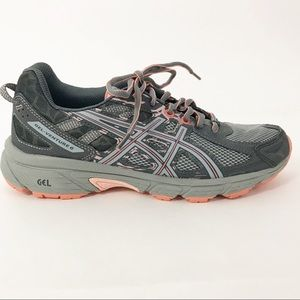 ASICS Gel Venture 6 Running Shoes Gray Coral 8.5